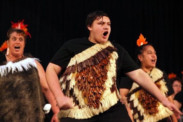 Te Ruahikihiki rocks the stage.