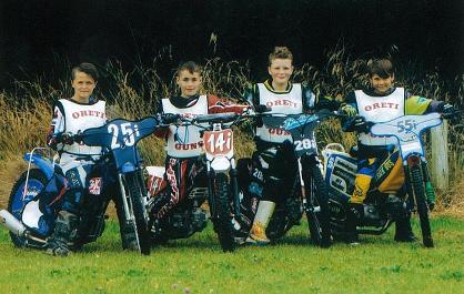 The 'Ōreti Guns Team' Left to right is: Ryan Colvin, Cormack Buchannan, Hayden Brookland and Dakota Crengle.