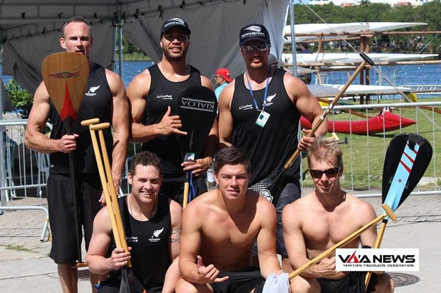 The 2014 Aotearoa Open Mens' team (clockwise from top left) Ross Gilray, Brad Anderson, Turi Hodges, Jack Wormald, Tupu King and Craig Pauling.