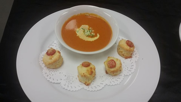 The award-winning tomato soup and scones.