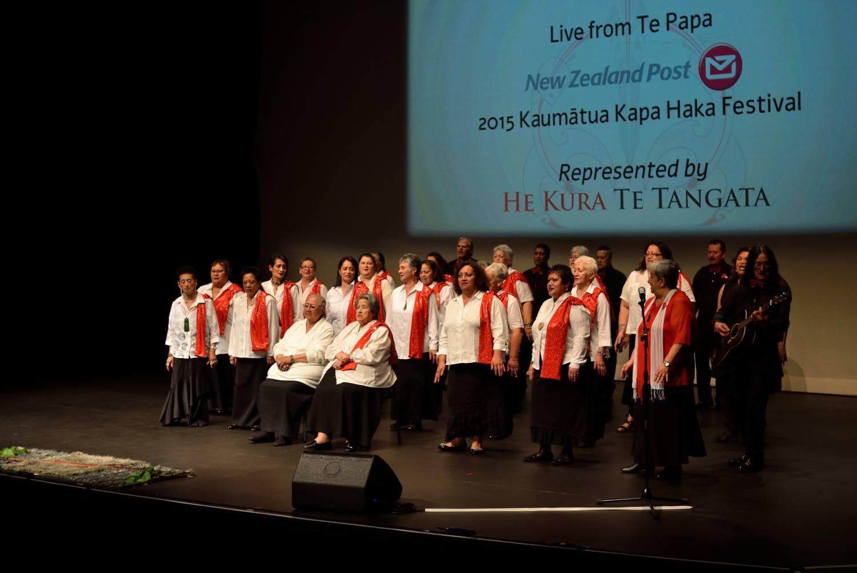 The Ngāi Tūāhuriri crew onstage.