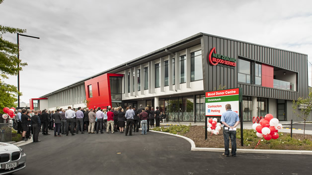 The crowd during the opening of the Christchurch Blood Centre. (Photo courtesy of Denada Creative).