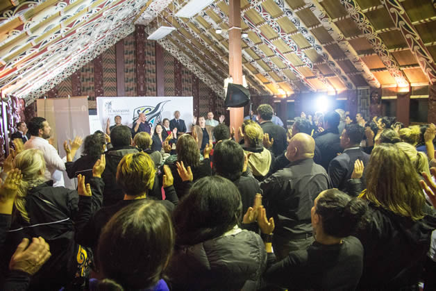 The live draw attracted a big crowd to Rehua Marae.