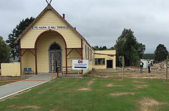 The marae development project is underway.
