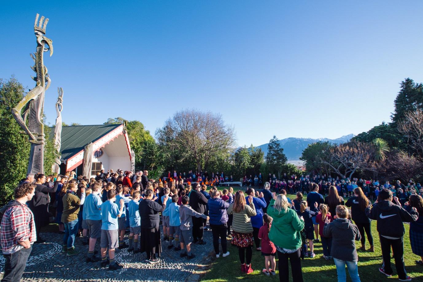 The matariki activities attracted a big crowd to Takahanga Marae. Photo courtesy of Andrew Spencer.