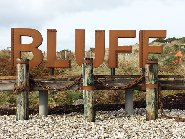 The new Bluff welcome sign.