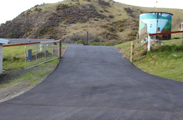 The new driveway to Hakuiao at Ōtākou Marae.