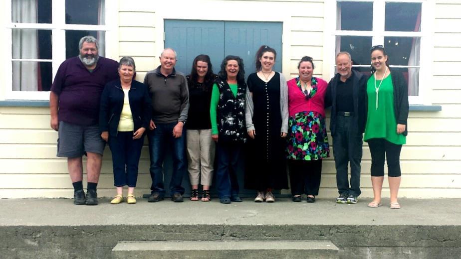 The new rūnanga executive, from left, Graeme Lane, Ivy Johnston, Martyn Smith, Sara Eddington, Suzanne Eddington, Dardanelle McLean-Smith, Leisa Aumua, Howard Marshall and Samantha Sykes.