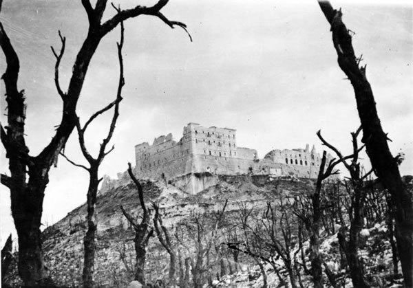 The ruins of Monte-Cassino, Italy.