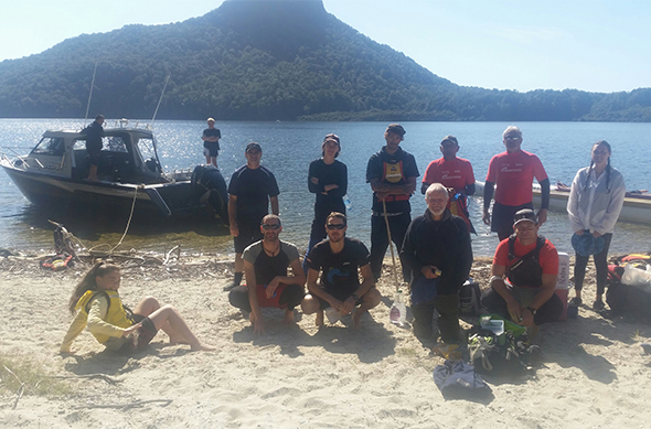 The team lakeside.