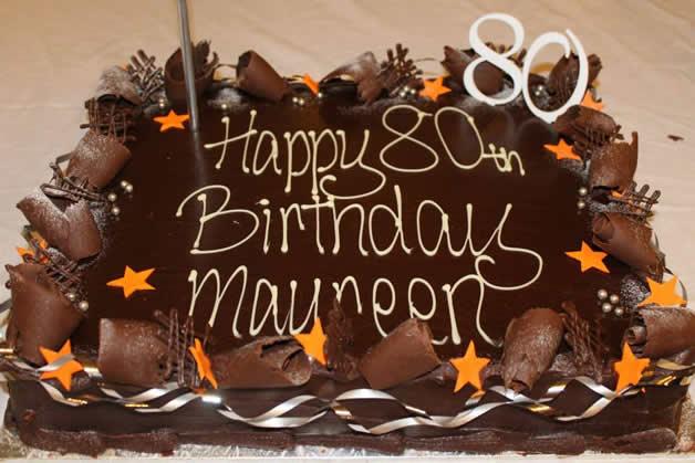 The yummy birthday cake.