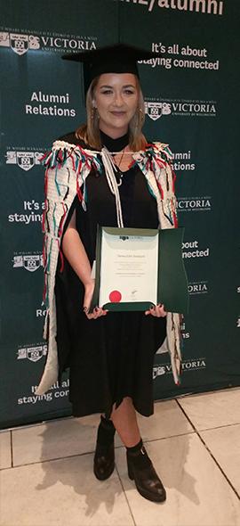 Theresa Pankhurst, Graduate Bachelor of Biomedical Science.