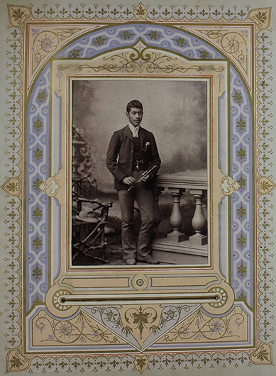 This photograph was taken in Ōāmaru in the 1880's, but the young man has not been identified.