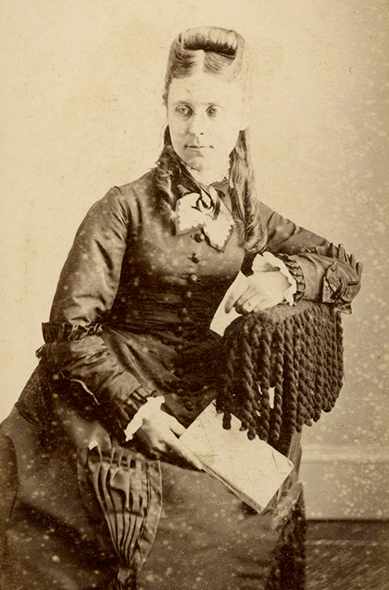This woman's photograph appears three times in the album, but her identity is unknown. All photographs were taken in Invercargill.