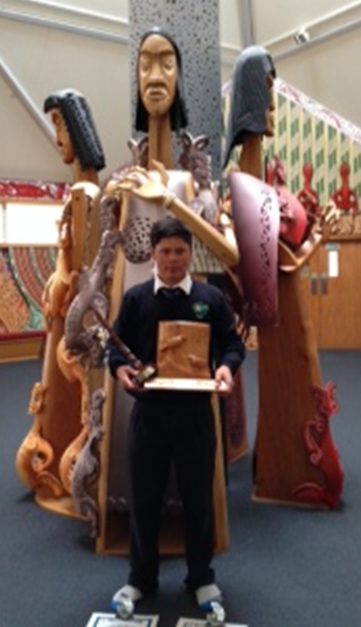 Thomas Aerepo-Morgan pictured with his trophies.