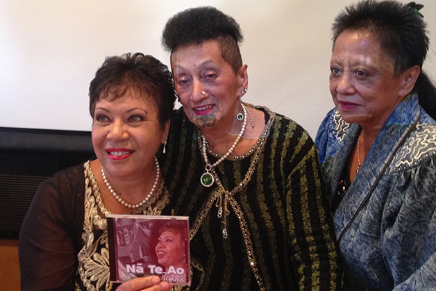 Timua Brennan with Aunty Soni and her daughter Iola Bennett.