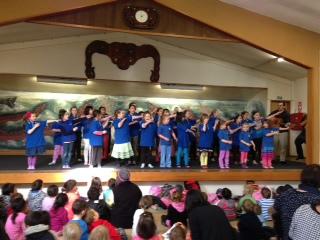 Tisbury School kapa haka group.