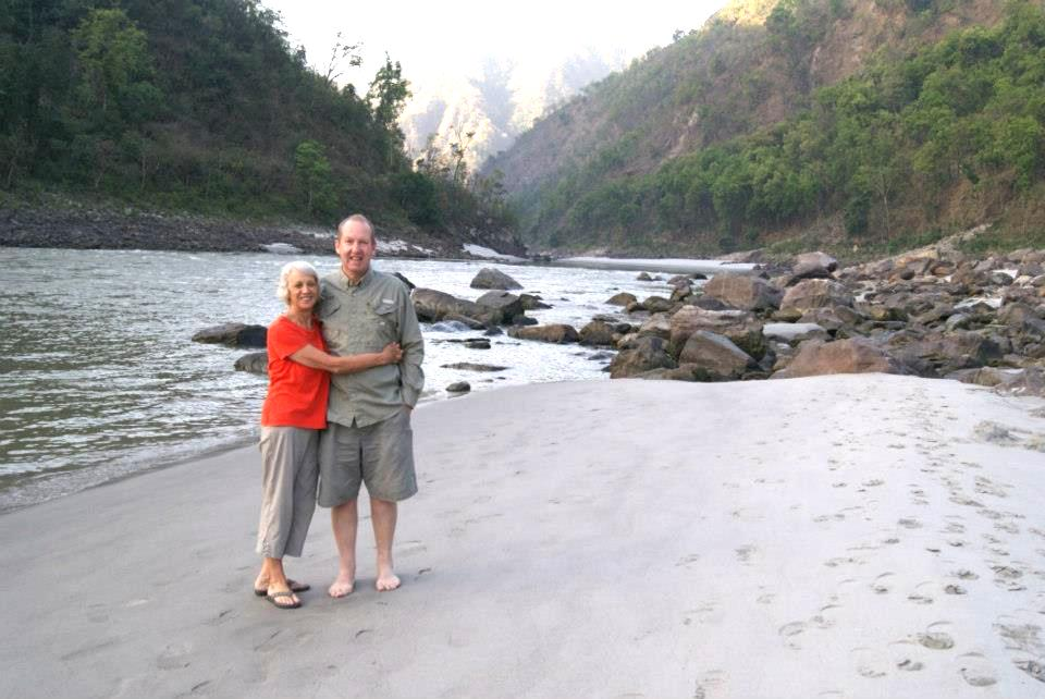 Tony and Jan at the Ganges.