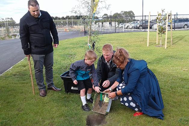 Tree planting at Lemonwood Grove School.