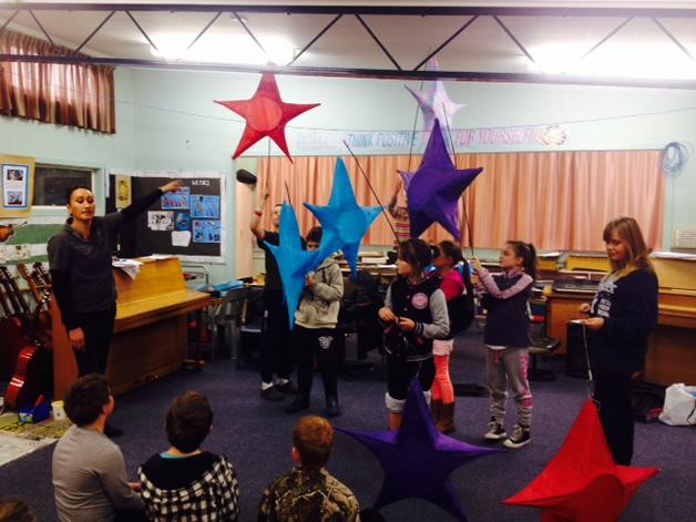 Twizel School celebrating during the Festival of Light.