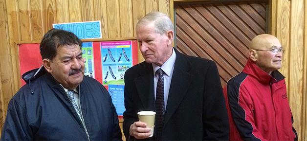 Uncle Pat, Mayor Coe and Matua Henare Edwards.