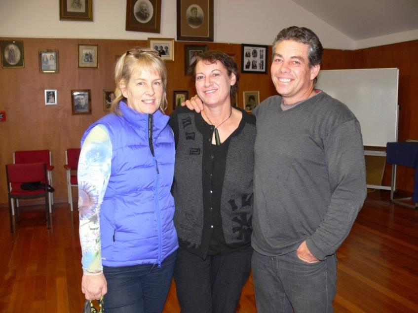 Victoria Bryant, Jenny Smith and Brendan Flack enjoying the wanaka.