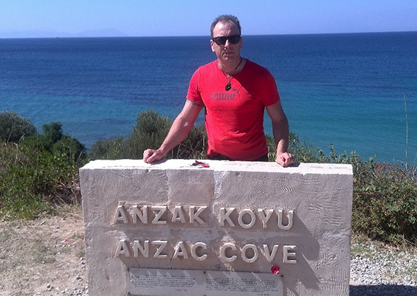 Visiting Anzac Cove.