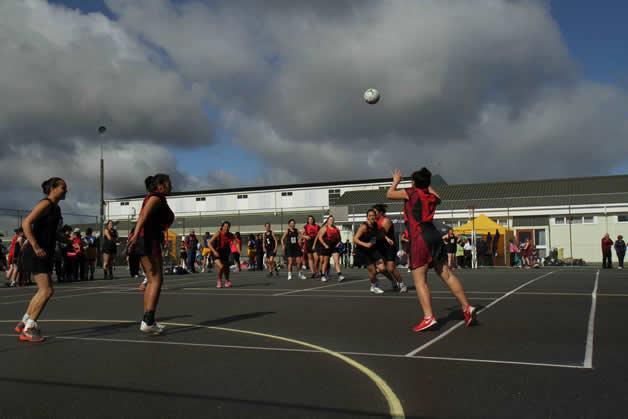 Wāhine during the Māori netball tournament.