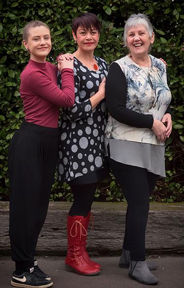 Wendi Raumati (right), with her daughter Paritai and Moko Kyla.