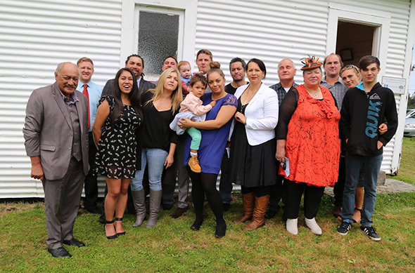 Whānau at the christening of Beau Jack and Nixon Paitoto Condon.