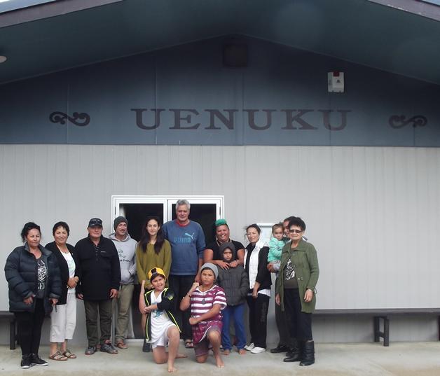 Whānau gathered at our marae.