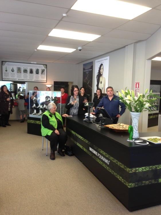 Whānau gathered for the official opening.