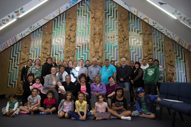 Whānau who attended a preliminary Wānaka Ora with Rev. Maurice Gray. Photograph by Kerepeti Paraone.