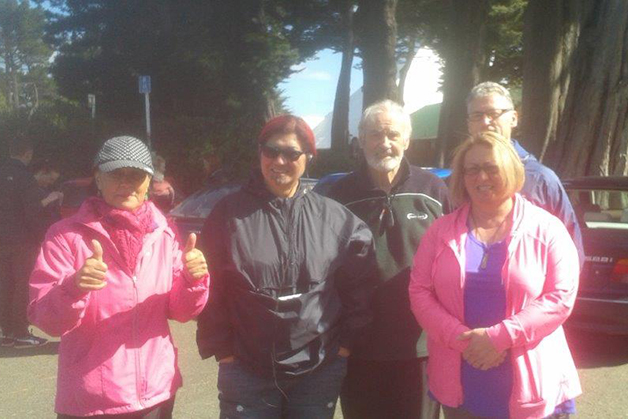 Whānau who went along to support the Alzheimers walk at Queens Park, Invercargill.