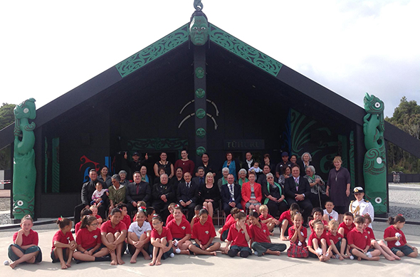 Whānau with Governor-General Sir Jerry Mateparae and Lady Janine.
