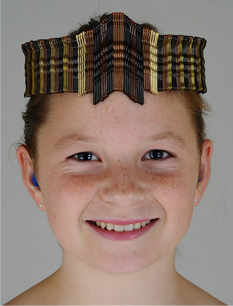 Winnie Solomon wearing the tiara.