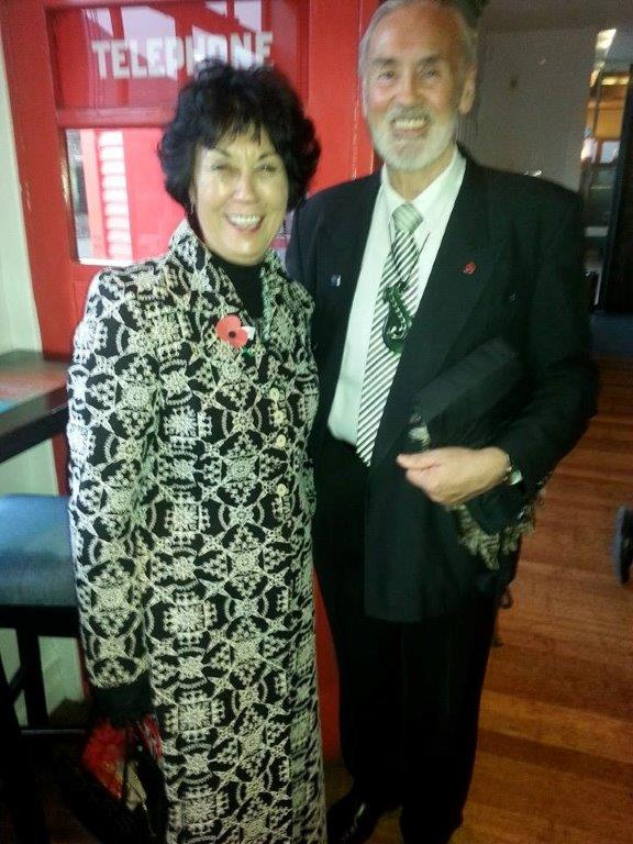 Winsome and Michael Skerrett at the Kākāpō Ball in Queenstown.