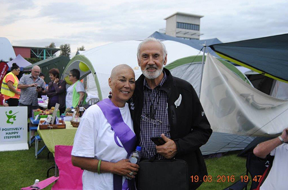 Winsome and Michael Skerrett attending Relay for Life.