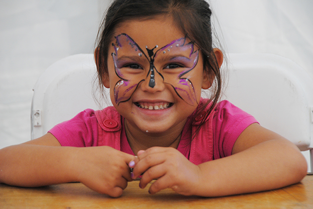 kotiro with butterfly face paint
